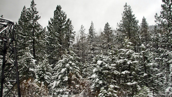 Day 3 - California Zephyr from Reno, NV, to Emeryville, CA, through the snowy Sierra Nevada Mountains
